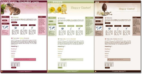 Product picture *NEW* 3 Easter Parade Templates MRR